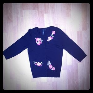 INC Embroidered Cardigan